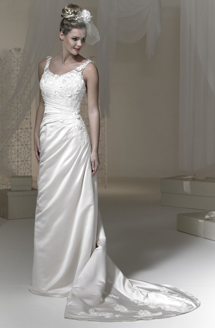 We're loving this elegant satin gown.  Newly arrived today!