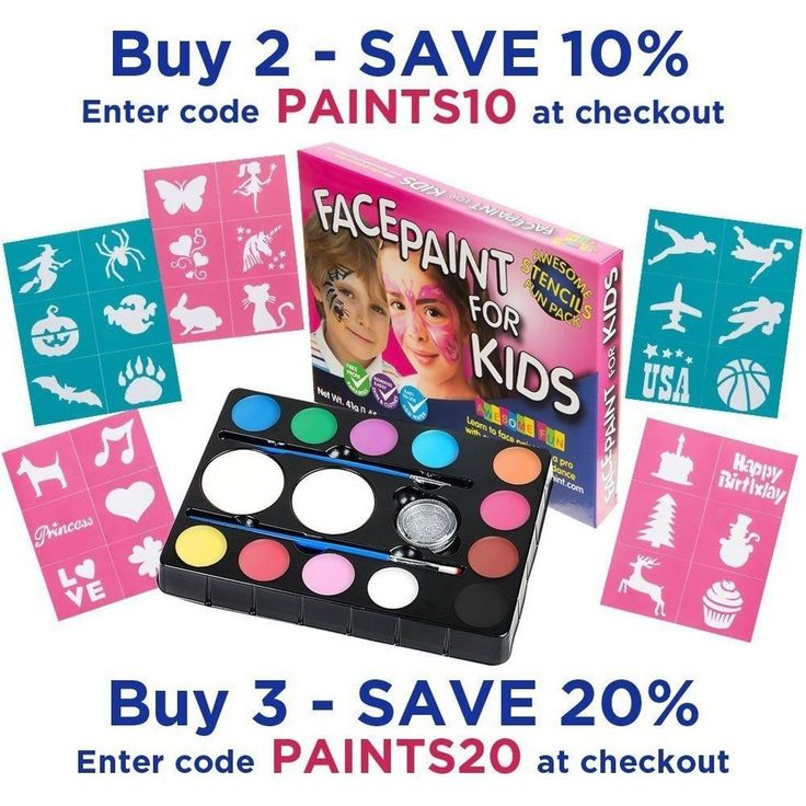 Face Paint Kit with 30 Stencils: 12 Color Palette for Kids: 2 Brushes - NEW http://ift.tt/2yIioHT Face #Paint #Kit30Stencils #12Color #Palette #Kids #2Brushes #NEW Clothing #Shoes #Accessories #Costumes #Reenactment #Theater #FacePaint #Stage #Makeup #dacistores