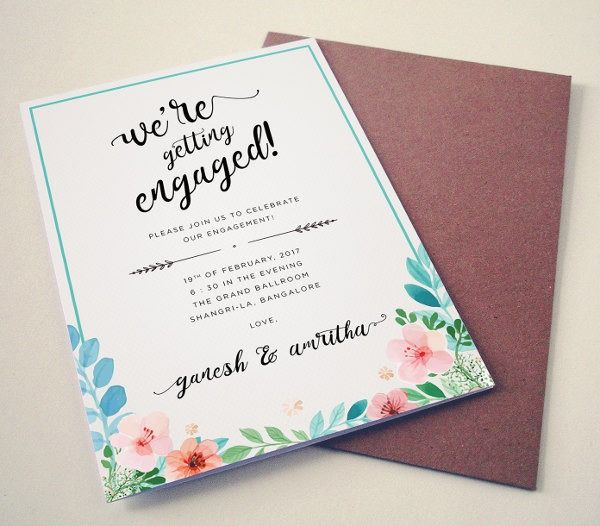 Simple Engagement Invitation Cards Latar Belakang