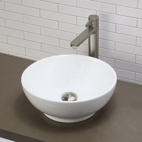 *** D1441CWH Montallegro Vessel Style Bathroom Sink - White at FergusonShowrooms.com