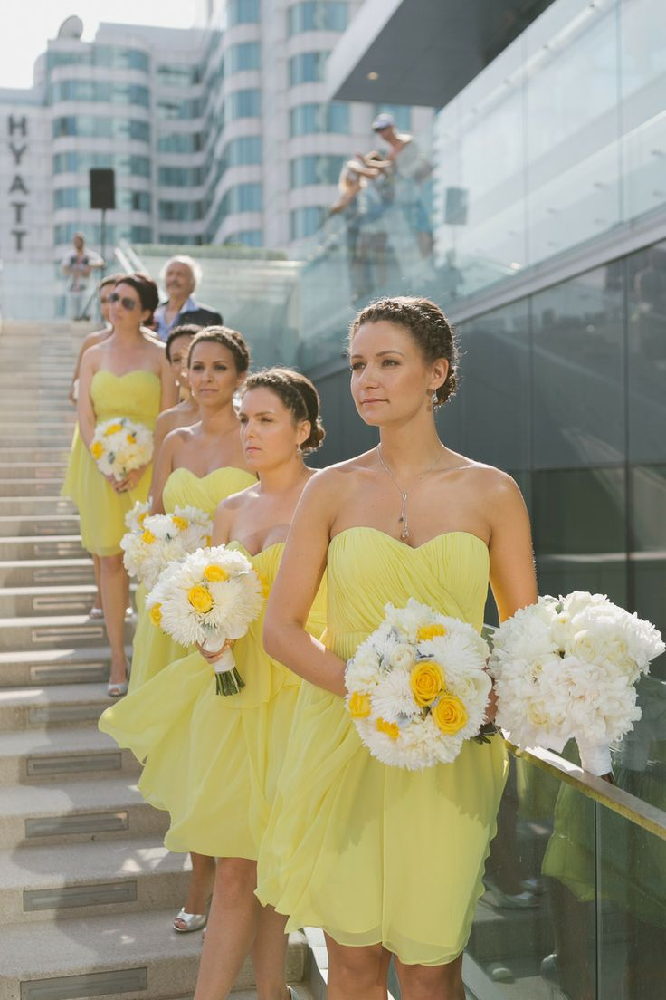 269 best yellow wedding images on pinterest yellow weddings modern gray and yellow wedding at malaparte bright bridesmaid dressesyellow ombrellifo Image collections