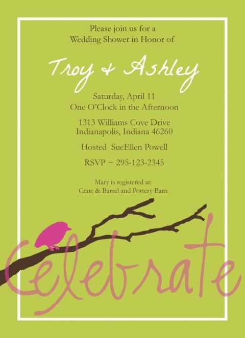 free customizable bridal shower invitations | www ...