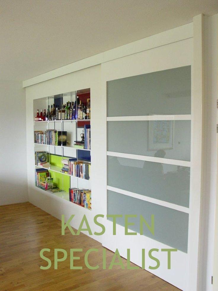 Houten schuifdeuren op maat - Kastenspecialist 1 deur als kamerdeur of kastdeur.