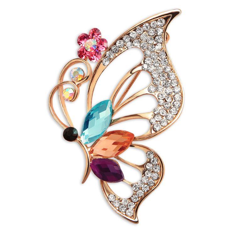 Vivide Wykwintne Duże Rhinestone Motyl Broszka Pin Narzeczonej Ubieranie Akcesoria Mody Biżuteria Szalik Vestido Hidżab Pin XZ0082(China (Mainland))