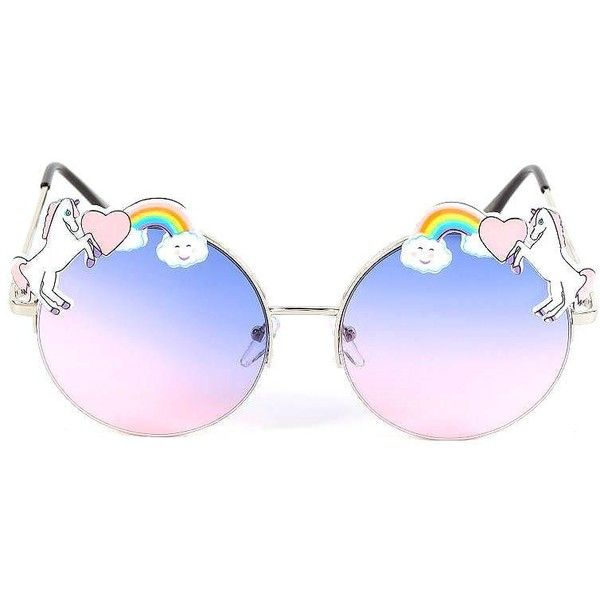 38fdf5decf9 UNICORN FANTASY SUNGLASSES ( 6.99) ❤ liked on Polyvore featuring  accessories