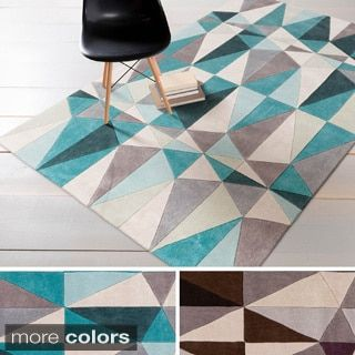 Hand-tufted Contemporary Geometric Rug (8' x 11') | Overstock.com Shopping - The Best Deals on 7x9 - 10x14 Rugs