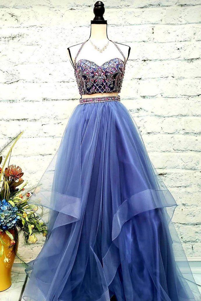 674726bbbb Elegant Tulle Crystal Beading Prom Dress