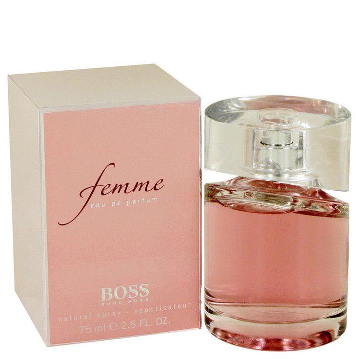 Boss Femme Perfume By HUGO BOSS FOR WOMEN 1 1.7 2.5 oz Eau De Parfum Spray NEW #HUGOBOSS