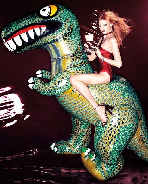 lara stone fashion editorial Fashion Editorial: Lara Stone and The Wild Animals