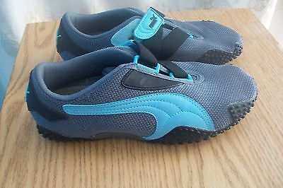 Women's PUMA Mostro Perf Trainers, Size 7, Gray/Black/Blue, Great Condition!!!