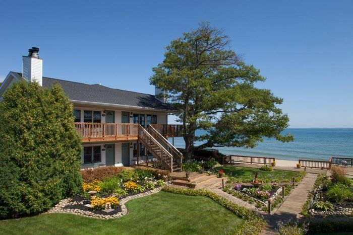 Huron House Bed and Breakfast, Oscoda, MI.This B&B is couples only and for good reason; this romantic rendezvous sits above the shores of Lake Huron listening to waves lap against the shore.