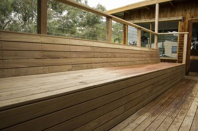 Blackbutt Bench Seat and Decking, Beaumont - SPRUCE QUALITY DECKS | TIMBER DECKING ADELAIDE BUILDERS