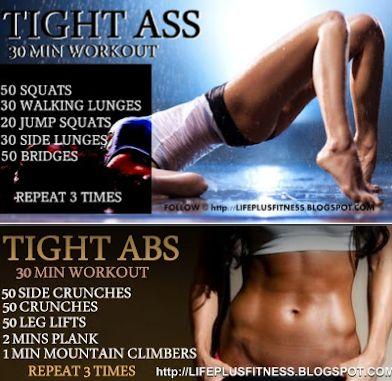 tight ass/tight abs