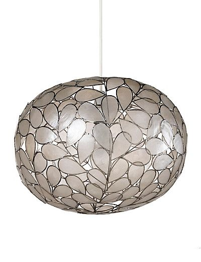 Large Oval Capiz Shell Lamp Shade | M&S