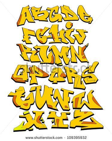 Graffiti alphabet Stockfotos und -bilder | Shutterstock
