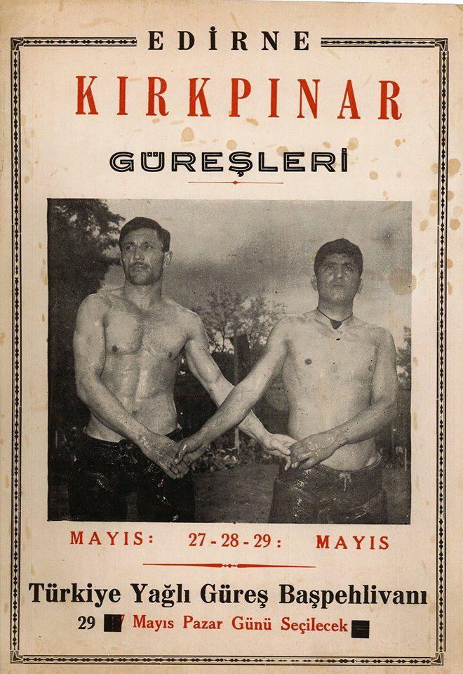 Kırkpınar Güreşleri'nin eski afişleri.