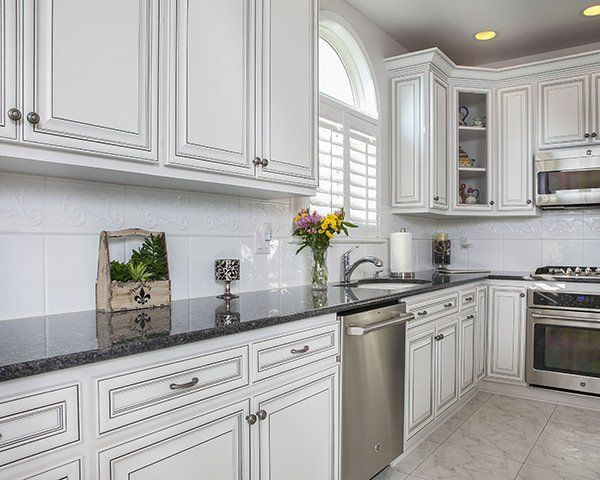 White Kitchen Cabinets With Black Glaze New Kitchen Cabinets Custom Kitchen Cabinets Refacing Kitchen Cabinets