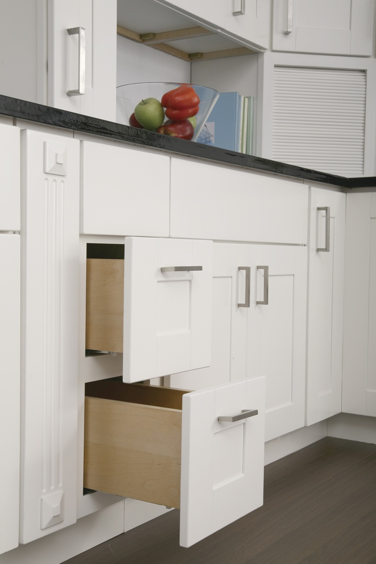 Findley myers malibu white kitchen features birch for Cabinets to go