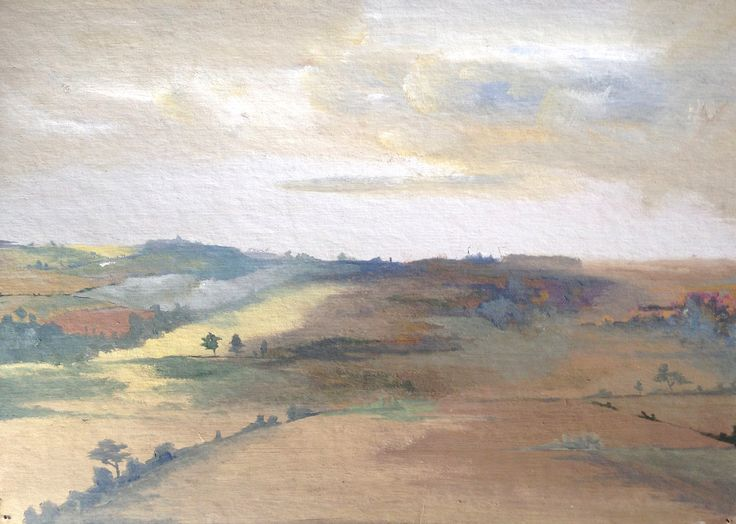 Isobelle - A2 Fine Art, Truro College - View from the Window - oil on card.