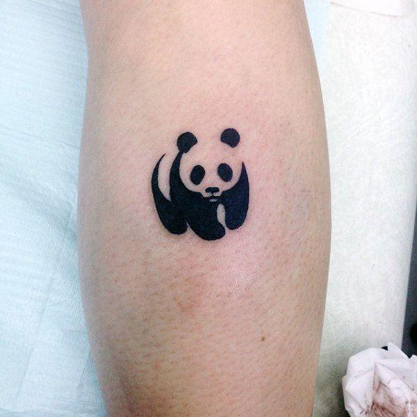 Small Simple Mens Universal Panda Symbol Tattoo