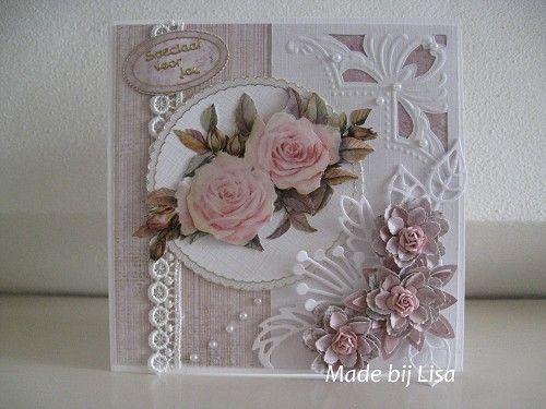 Voorbeeldkaart - Roos - Categorie: Handembossing - Hobbyjournaal uw hobby website