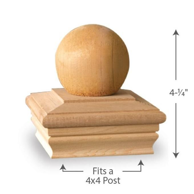 Best Newport Ball Top Post Cap 4X4 Post Cap Porch Posts 400 x 300