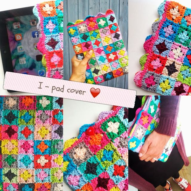 Love the ipad cover made by Haken en meer - Oh my... love this idea for the Galaxy! Pattern is easy to follow just by looking at it.
