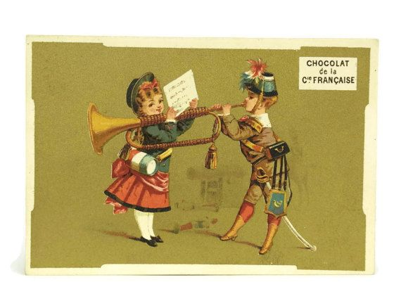 Antique French Chocolate Trading Card with by LeBonheurDuJour