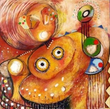 "Saatchi Art Artist Concha Flores Vay; Painting, ""COMO DOS LUCEROS"" #art"