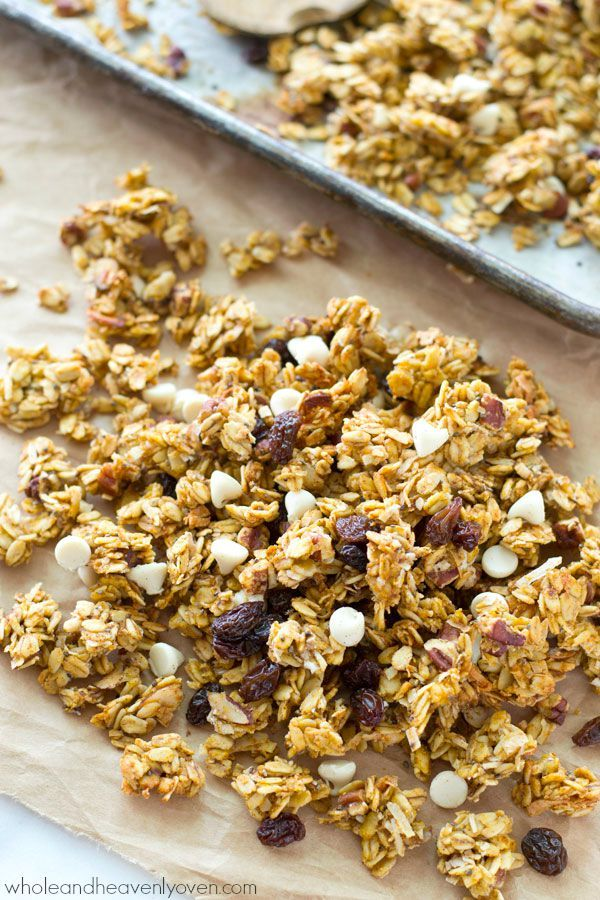 Pumpkin White Chocolate Cranberry Granola | Recipe ...