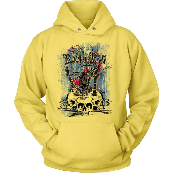 Rock & Roll - Hoodie Designed and printed in the U.S.A. A cozy, no-nonsense…