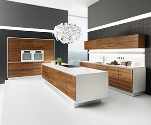 Linee Luxury wood and glass kitchens