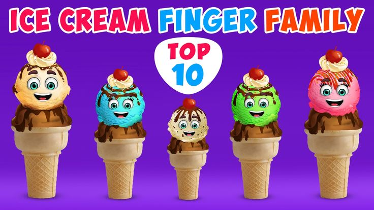 Ice Cream Finger Family Song | Top 10 Finger Family Songs | Daddy Finger Rhyme