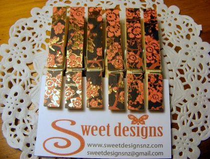Japanese Blossom Peg Magnets