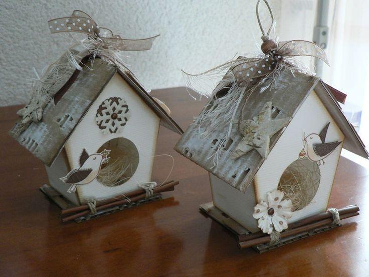 nichoirs de no l christmas int navidad interiores pinterest birdhouse scrap and. Black Bedroom Furniture Sets. Home Design Ideas