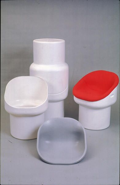 Robin Day; Molded Plastic 'Obo' Chair for Hille, 1972.