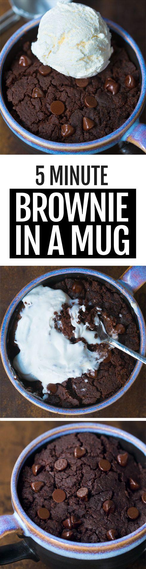 How To Make A Chocolate Brownie In A Mug (5 Minute Recipe)