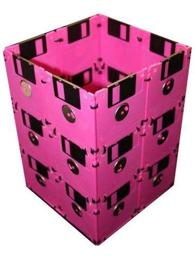 Lixeira com Disquetes #diy #floppydisk #disquete #reciclar #reaproveitar