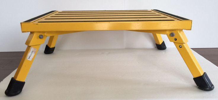 Aluminum Step Stool Folding Rv Safety Sturdy Heavy Non