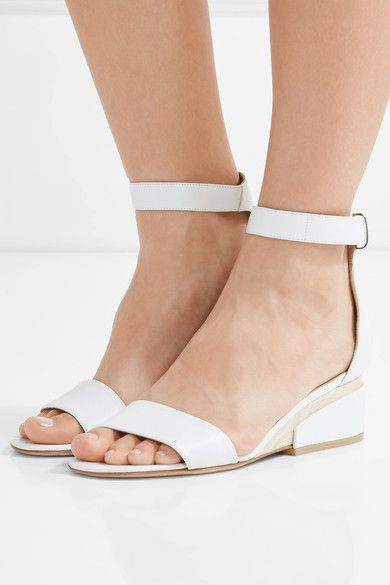 Gabriela Hearst - Sydney Leather Wedge Sandals - Off-white - IT39.5