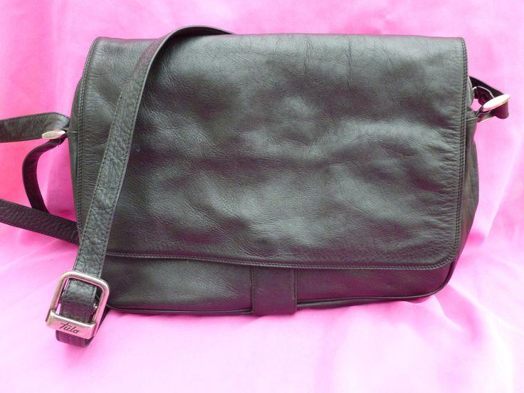 Vintage Tula Black Shoulder Bag - Tula Shoulder Bag - Multi Compartments Tula Bag - Soft Leather Bag - Vintage Shoulder Bag - Tula Radley by Teddyrose54 on Etsy