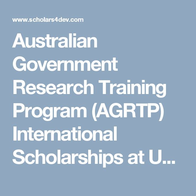 Australian Government Research Training Program (AGRTP) International Scholarships at University of Flinders | 2017-2018 Scholarships