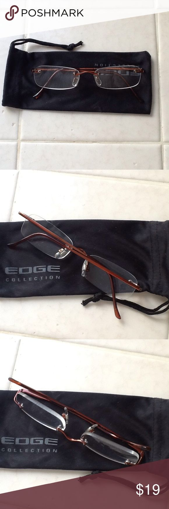 """""""GRANNY GLASSES""""   Power 2+ In excellent condition.  Hardly used.  With cloth cover. Accessories Glasses"""