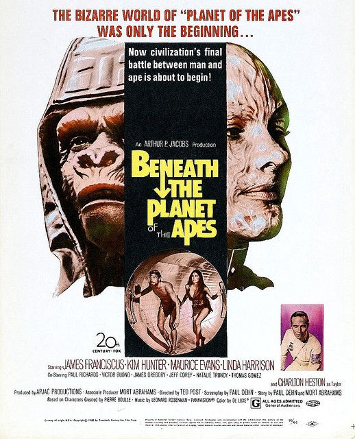 Beneath the Planet of the Apes (1970) - 7/19/14, home, streaming
