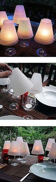 DIY win glass votive lamps