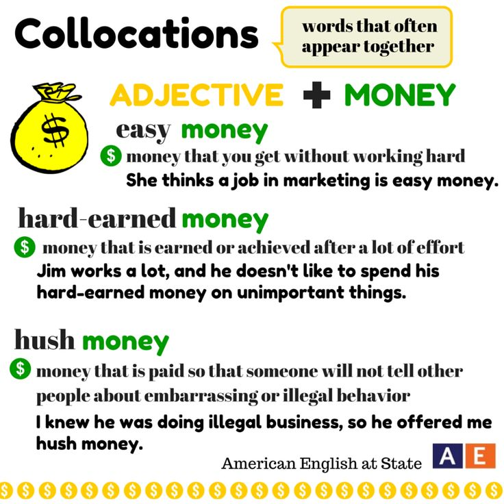 Collocations: ADJECTIVE + MONEY