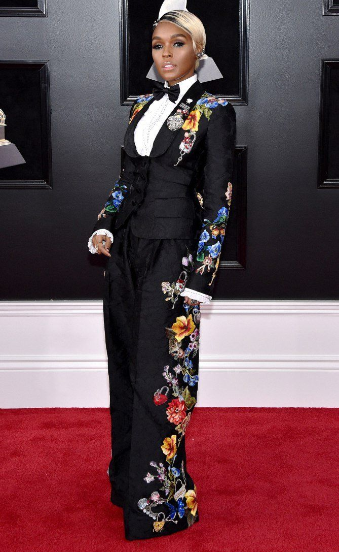 9feb52f79856 Grammy Awards 2018 Best Dressed on the Red Carpet at the Grammys - Janelle  Monae in Dolce   Gabbana