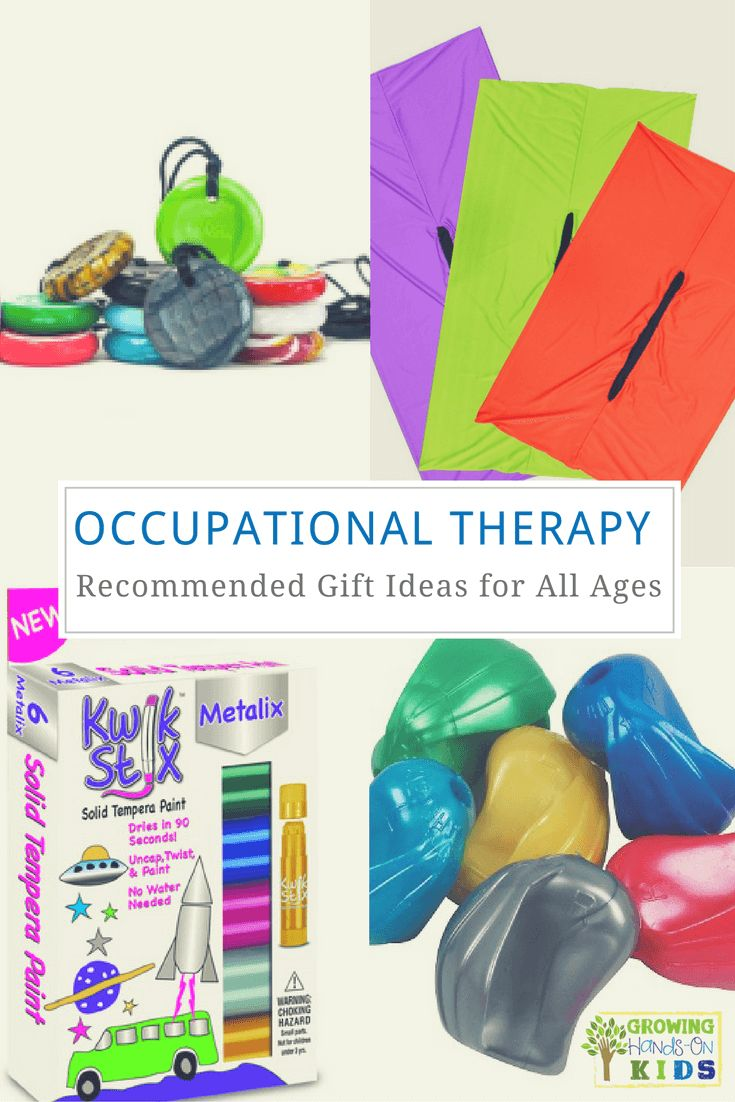 Occupational therapy recommended gift ideas for children of all ages. via @growhandsonkids