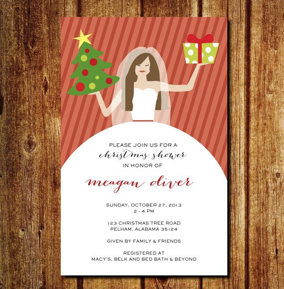 Bridal Christmas Shower by lilypadboutiquestore on Etsy