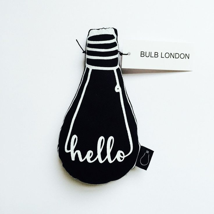 Bulb London deco kussentje Hello